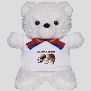 Sports Balls, Custom Name Teddy Bear