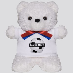 Personalized Soccer Ball Teddy Bear