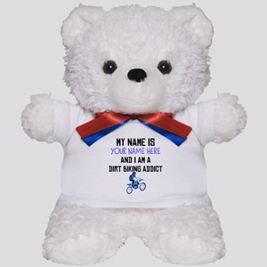 Custom Dirt Biking Addict Teddy Bear