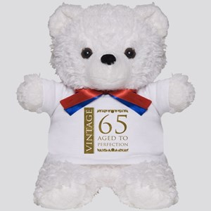 Fancy Vintage 65th Birthday Teddy Bear