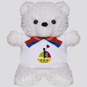 Personalized 4th Birthday Sailboat Teddy Bear