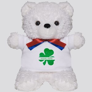 Custom Name Shamrock Teddy Bear