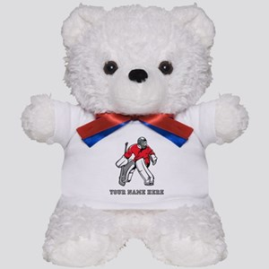 Custom Hockey Goalie Teddy Bear