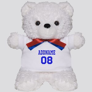 Blue Jersey Style Custom Teddy Bear