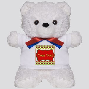 Personalizable Red and Green Polka Dots Teddy Bear