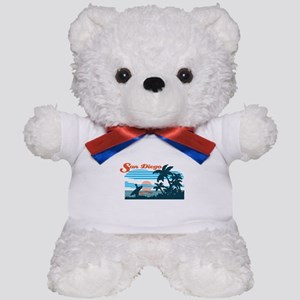 Retro San Diego Surf Teddy Bear