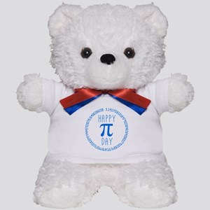 Happy Pi Day in Blue Teddy Bear