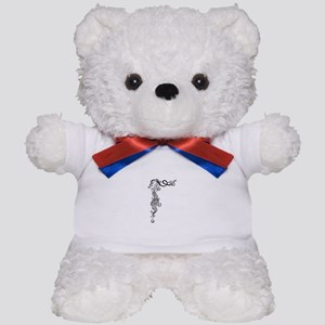 Black/White Mermaid Teddy Bear
