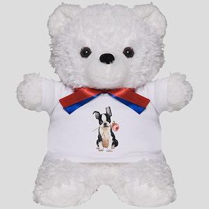 Boston Terrier Rose Teddy Bear