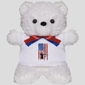 USA Flag Team Archery Teddy Bear