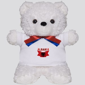 flag Albania Ribbon Teddy Bear