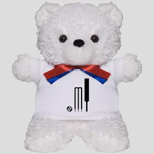 Cricket ball bat stumps Teddy Bear