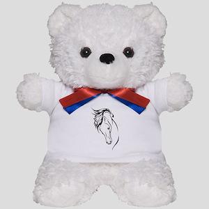Line Drawn Horse Head Teddy Bear