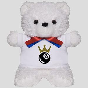 Eight ball billiards crown Teddy Bear
