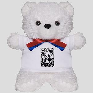 Alice in Wonderland Silhouette Teddy Bear