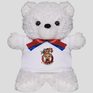 Christmas - Deck the Halls - Airedales Teddy Bear