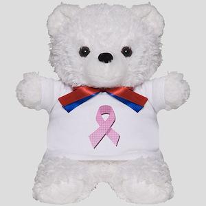 Pink Gingham Ribbon Teddy Bear