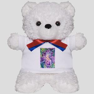 Iris! Beautiful, purple flower, Teddy Bear
