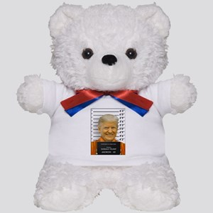 Trump Mugshot Photo Moron 45 Teddy Bear