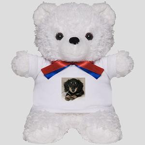 Long Haired Puppy Teddy Bear