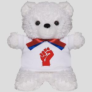 Raised Fist Teddy Bear