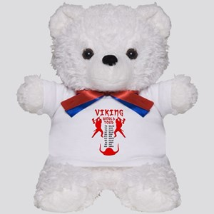 Viking World Tour Funny Norse T-Shirt Teddy Bear