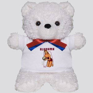 Vintage Alabama Pinup Teddy Bear