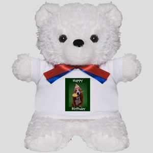 Basset Hound Birthday Lollipop Teddy Bear