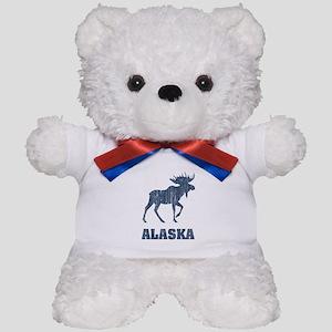 Retro Alaska Moose Teddy Bear