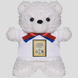 Best Friends / Sculpted Art Teddy Bear