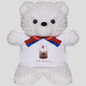 40th Anniversary Cake Teddy Bear