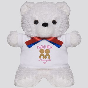 Ethnic Twin Girls Teddy Bear
