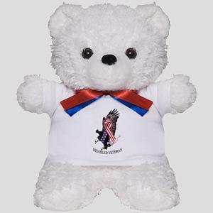 Disabled Veteran Eagle and Ribbon Teddy Bear