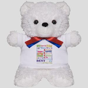 80th Birthday Typography Teddy Bear