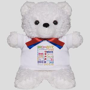 2018 Graduation Typography Teddy Bear