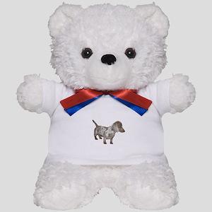Speckled Dachshund Dog Teddy Bear