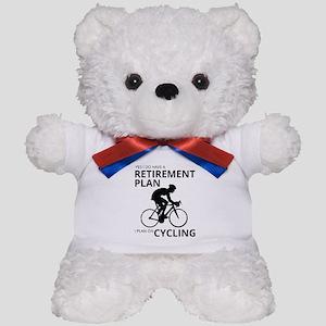Cyclist Retirement Plan Teddy Bear