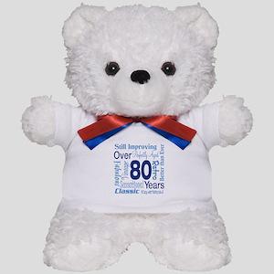 Over 80 years, 80th Birthday Teddy Bear