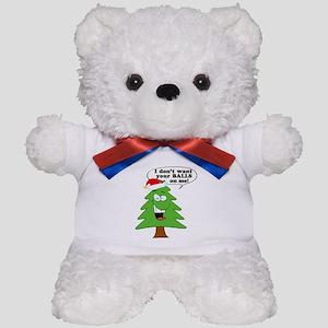Christmas Tree Harassment Teddy Bear