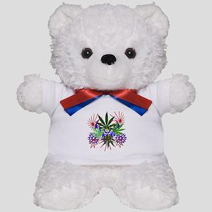 Marijuana Art Teddy Bear