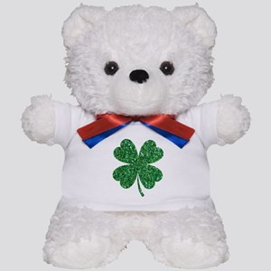 Green Glitter Shamrock st. particks Iri Teddy Bear