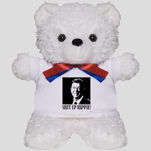 Ronald Reagan says SHUT UP HIPPIE! Teddy Bear