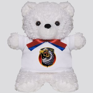 Screamin' Eagles Badge Teddy Bear