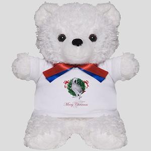 african grey christmas Teddy Bear