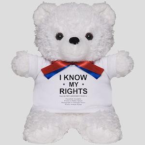 I KNOW MY RIGHTS BL Teddy Bear