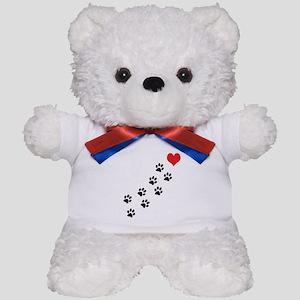 Paw Prints To My Heart Teddy Bear