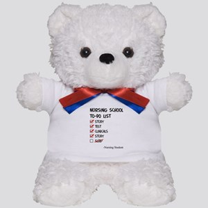 Nursing Student To-Do List Teddy Bear