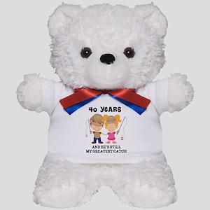 40th Anniversary Hes Greatest Catch Teddy Bear