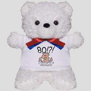 Recount 80th Birthday Teddy Bear