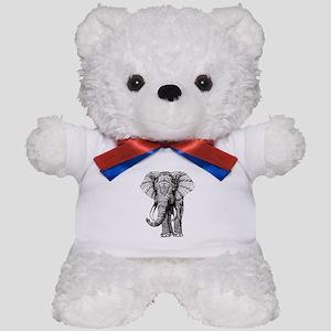 Paisley Elephant Teddy Bear